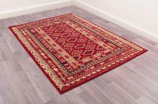 Keshan Supreme Arbil Red Worsted Wool Rug