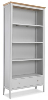 Almstead Grey Painted Large Bookcase