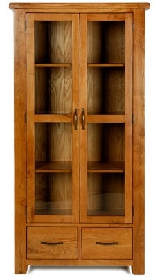 Arles Oak Glazed Display Cabinet