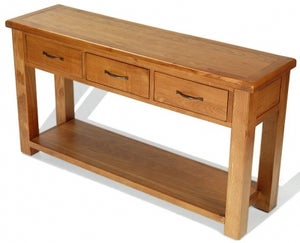 Arles Oak 3 Drawer Console Table