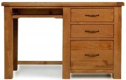 Arles Oak Desk with Filing Cabinet