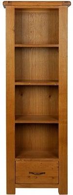 Arles Oak Slim Bookcase