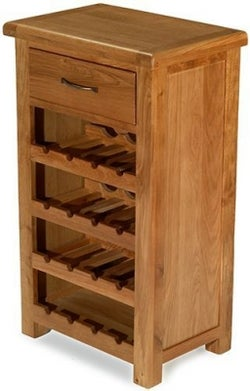 Arles Oak Petite Wine Rack
