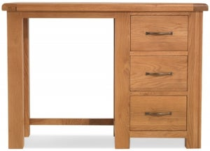 Bradburn Oak Single Pedestal Dressing Table