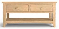 Celina Oak 2 Drawer Coffee Table