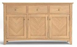 Celina Oak 3 Door Large Sideboard