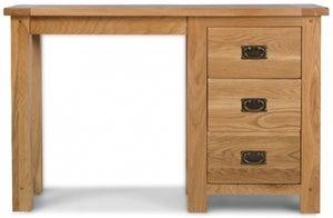 Cherington Oak Single Pedestal Dressing Table