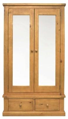 Churchill Pine 2 Door Combi Wardrobe