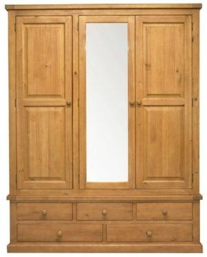 Churchill Pine 3 Door Combi Wardrobe