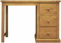 Churchill Pine Single Pedestal Dressing Table