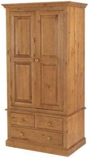 Henbury Pine 2 Door 3 Drawer Wardrobe