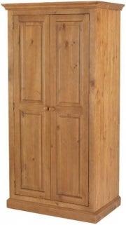 Henbury Pine 2 Door Ladies Wardrobe