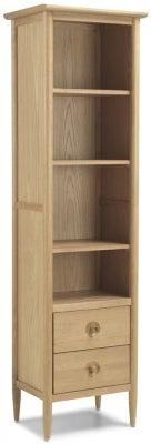 Skean Oak Slim Bookcase