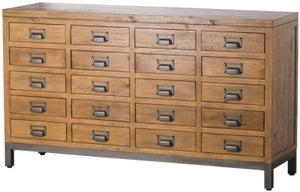Hill Interiors Draftsman Solid Pine 20 Drawer Merchant Chest