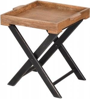 Hill Interiors Nordic Parquet Style Mango Wood Medium Butler Table