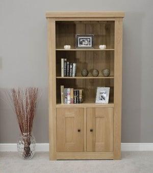 Homestyle GB Bordeaux Oak 2 Door Bookcase