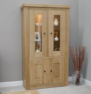 Homestyle GB Bordeaux Oak Glass Display Unit
