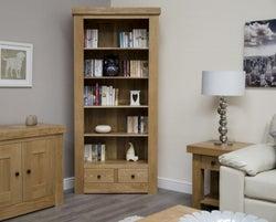 Homestyle GB Bordeaux Oak 2 Drawer Large Bookcase