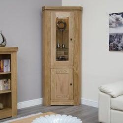 Homestyle GB Bordeaux Oak Corner Display Unit