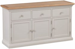 Homestyle GB Cotswold Oak and Painted Large Sideboard