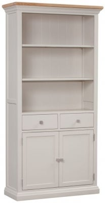 Homestyle GB Cotswold Oak and Painted Large Bookcase