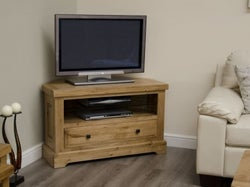 Homestyle GB Deluxe Oak Corner TV Unit