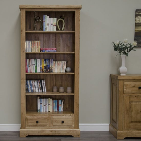 Homestyle GB Deluxe Oak Large Bookcase