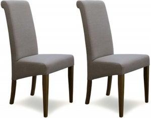 Homestyle GB Italia Dining Chair (Pair) - Beige Fabric