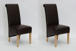 Homestyle GB Richmond Dining Chair (Pair) - Matt Coco Bonded Leather