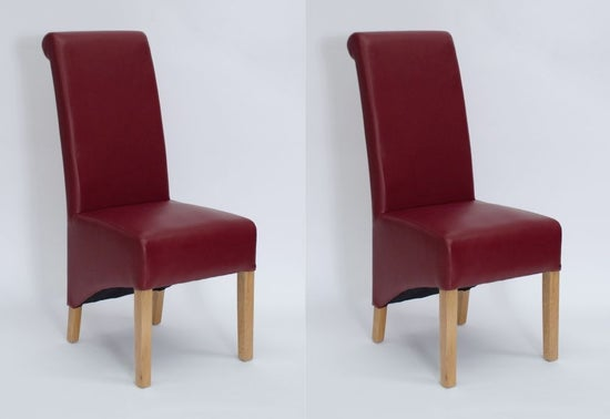 Homestyle GB Richmond Dining Chair (Pair) - Matt Ruby Bonded Leather