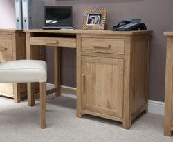 Homestyle GB Opus Oak Single Pedestal Computer Desk