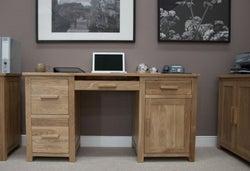 Homestyle GB Opus Oak Double Pedestal Computer Desk