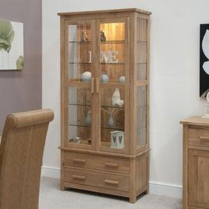 Homestyle GB Opus Oak Glass Display Cabinet