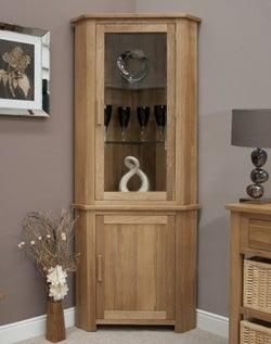 Homestyle GB Opus Oak Corner Display Unit