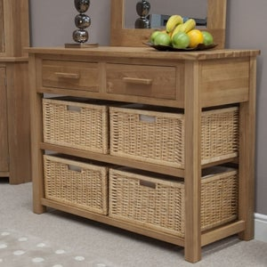 Homestyle GB Opus Oak Basket Console Table