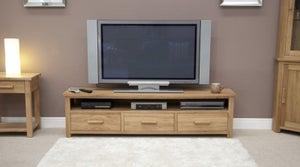 Homestyle GB Opus Oak Large Plasma TV Unit