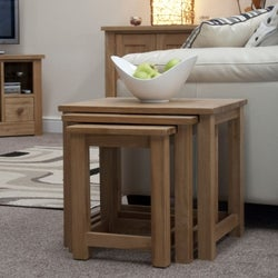 Homestyle GB Opus Oak Nest of Tables