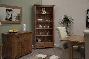 Homestyle GB Rustic Oak Large Bookcase