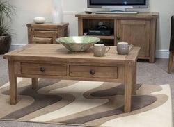 Homestyle GB Rustic Oak Storage Coffee Table