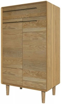 Homestyle GB Scandic Oak Shoe Cabinet