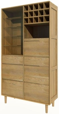 Homestyle GB Scandic Oak Drinks Cabinet