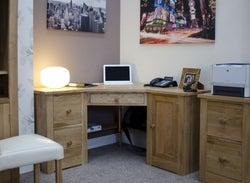 Homestyle GB Torino Oak Corner Computer Desk