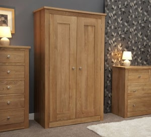 Homestyle GB Torino Oak 2 Door Wardrobe