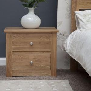 Homestyle GB Torino Oak Medium Bedside Cabinet