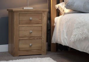 Homestyle GB Torino Oak Large Bedside Cabinet