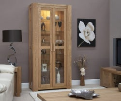 Homestyle GB Trend Oak Glass Display Cabinet