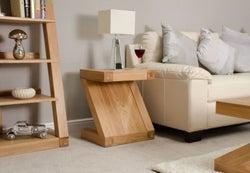 Homestyle GB Z Designer Oak Lamp Table