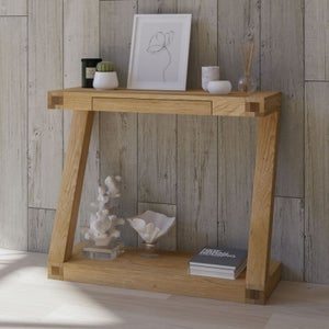 Homestyle GB Z Designer Oak Small Hall Table