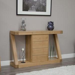 Homestyle GB Z Designer Oak Console Table