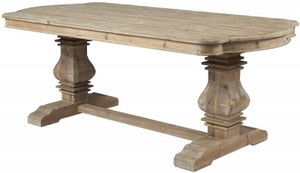 Asbury Reclaimed Pine Kidney End Dining Table